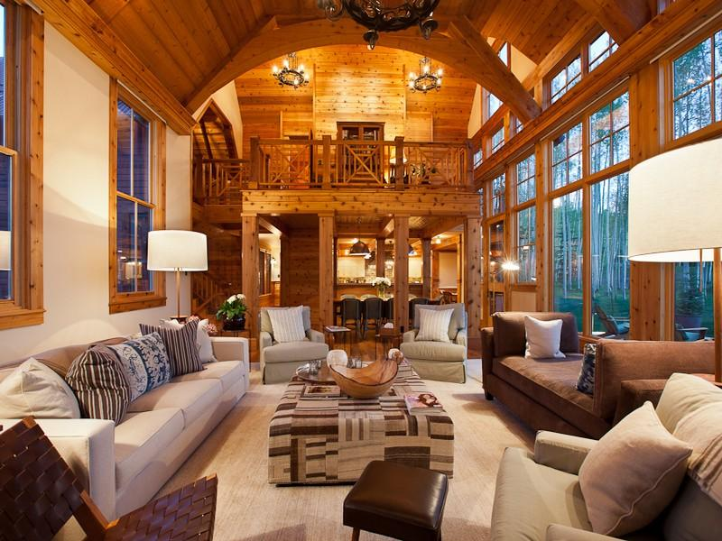 Jerry seinfeld 39 s house in telluride celebrity cribs for New house living room ideas